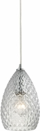 ELK 10253-1CL Geval Modern Polished Chrome Mini Hanging Pendant Light