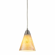 ELK 10337-1 Magellan Contemporary Satin Nickel Mini Hanging Pendant Light