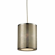 ELK 10340-1 Lightgrid Contemporary Satin Nickel Mini Pendant Light