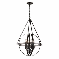 ELK 10392-4 Hemispheres Modern Oil Rubbed Bronze Mini Chandelier Light