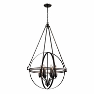 ELK 10393-6 Hemispheres Contemporary Oil Rubbed Bronze Chandelier Lighting