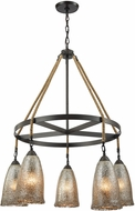 ELK 10438-5CH Hand Formed Glass Oil Rubbed Bronze Lighting Chandelier