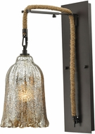 ELK 10641-1SCN Hand Formed Glass Oil Rubbed Bronze Lamp Sconce
