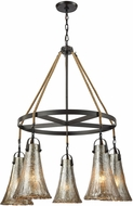 ELK 10651-5CH Hand Formed Glass Oil Rubbed Bronze Chandelier Lighting