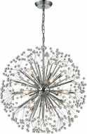 ELK 11546-16 Starburst Contemporary Polished Chrome Halogen Chandelier Lighting