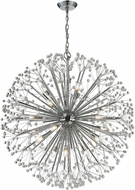ELK 11547-19 Starburst Modern Polished Chrome Halogen Lighting Chandelier