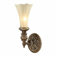 ELK 11550-1 Allesandria Traditional Burnt Bronze/Weathered Gold Leaf Wall Lamp