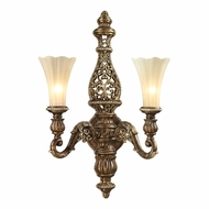 ELK 11551-2 Allesandria Traditional Burnt Bronze/Weathered Gold Leaf Wall Lighting