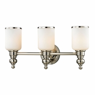 ELK 11572-3 Bristol Polished Nickel 3-Light Lighting For Bathroom