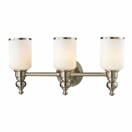 ELK 11582-3 Bristol Brushed Nickel 3-Light Bathroom Lighting Fixture