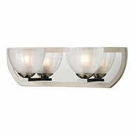 ELK 11596-2 Sculptive Modern Polished Nickel/Matte Nickel Halogen 2-Light Bathroom Light Fixture