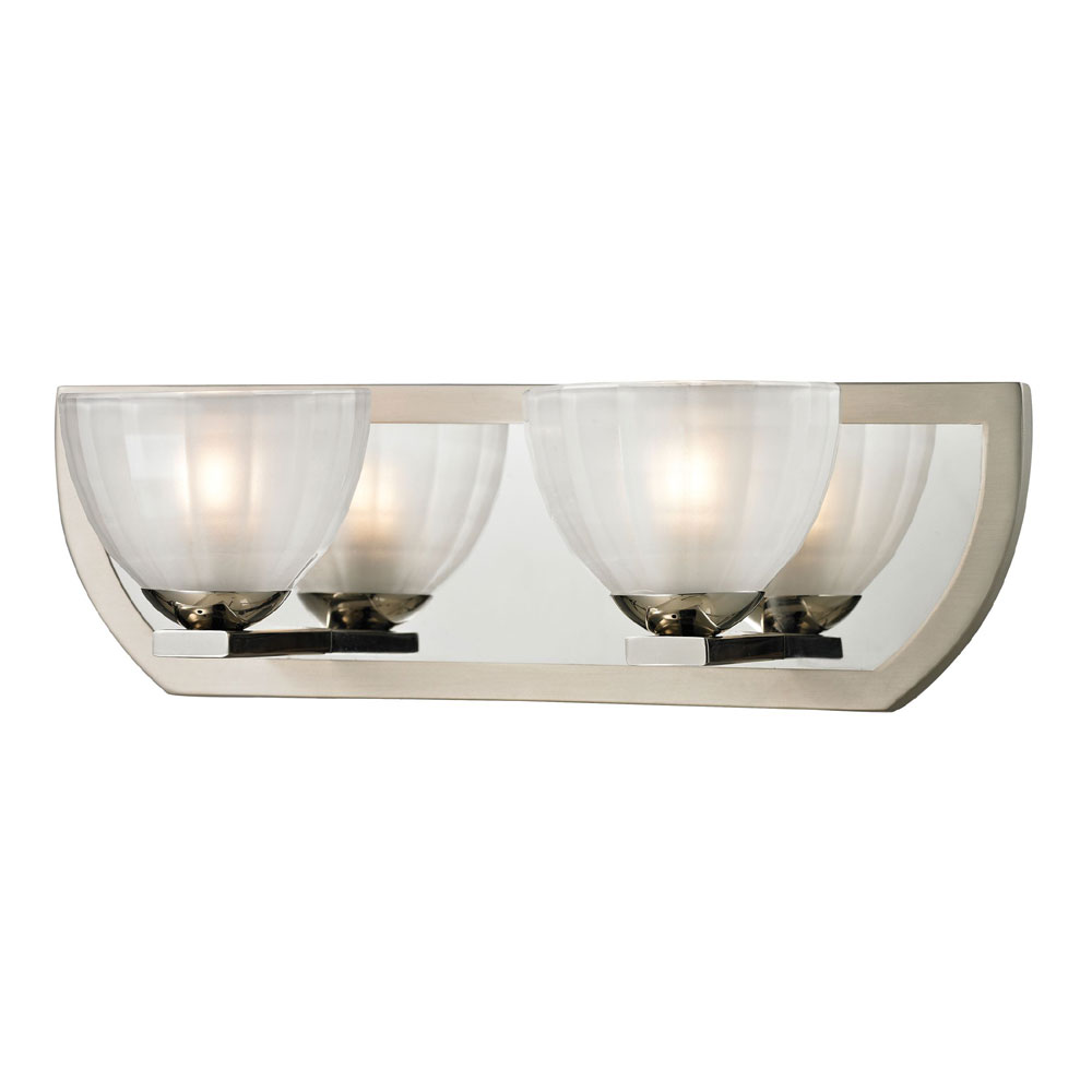 Kichler 6162ni Structures 2 Light Bath Wall Mount In Brushed Nickel: Bathroom Halogen Light Fixtures : Amazing White Bathroom Halogen Light Fixtures Photos