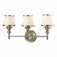 ELK 11602-3 Smithfield Brushed Nickel 3-Light Bath Sconce