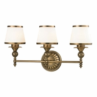 ELK 11612-3 Smithfield Aged Brass 3-Light Bathroom Vanity Light Fixture