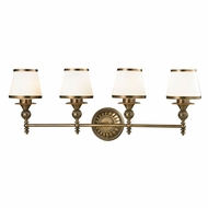 ELK 11613-4 Smithfield Aged Brass 4-Light Bathroom Wall Sconce