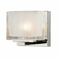 ELK 11620-1 Chiseled Glass Contemporary Polished Chrome Halogen Wall Sconce Lighting