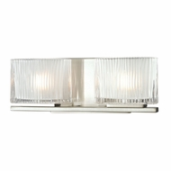 ELK 11631-2 Chiseled Glass Modern Brushed Nickel Halogen 2-Light Bathroom Sconce Lighting