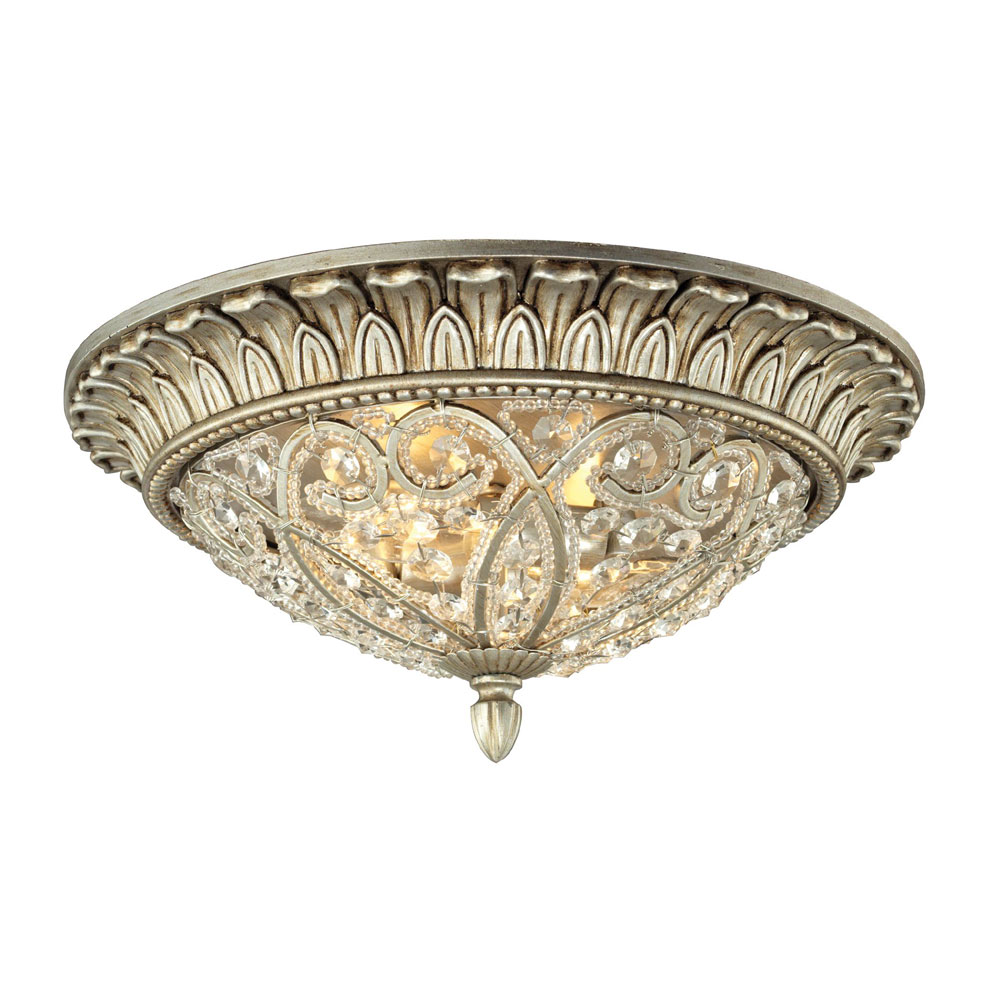 Elk Lighting Andalusia: ELK 11693-2 Andalusia Aged Silver Ceiling Lighting Fixture