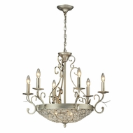 ELK 11696-6-3 Andalusia Aged Silver Ceiling Chandelier