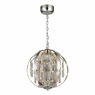 ELK 11726-LED Light Cylinders Modern Polished Chrome LED Ceiling Light Pendant