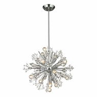 ELK 11750-15 Starburst Polished Chrome Mini Hanging Chandelier