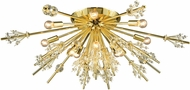 ELK 11759-12 Starburst Polished Gold Ceiling Light Fixture