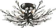 ELK 11772-6 Crystal Branches Burnt Bronze Flush Mount Lighting
