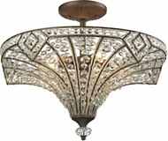 ELK 11782-5 Jausten Antique Bronze Flush Mount Light Fixture