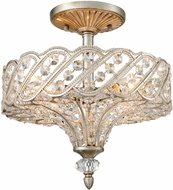 ELK 11922-4 Cumbria Aged Silver Ceiling Lighting Fixture