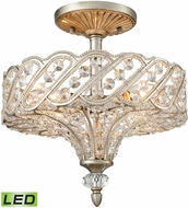 ELK 11922-4-LED Cumbria Aged Silver LED Ceiling Light Fixture