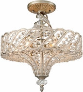 ELK 11923-6 Cumbria Aged Silver Flush Lighting