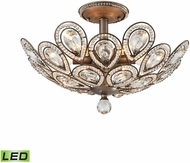 ELK 11931-6-LED Evolve Weathered Zinc LED Flush Ceiling Light Fixture