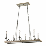 ELK 14181-6 Stratford Polished Nickel Kitchen Island Lighting