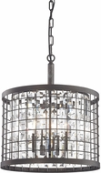 ELK 14342-4 Nadina Silverdust Iron Drum Pendant Light