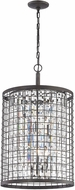ELK 14343-4 Nadina Silverdust Iron Drum Lighting Pendant