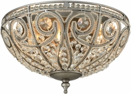 ELK 15993-3 Elizabethan Weathered Zinc Ceiling Lighting Fixture
