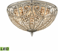 ELK 15994-6-LED Elizabethan Weathered Zinc LED Flush Mount Lighting