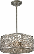 ELK 16243-4 Renaissance Sunset Silver Drum Hanging Light Fixture