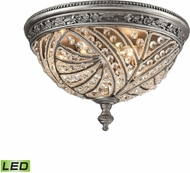 ELK 16250-4-LED Renaissance Weathered Zinc LED Flush Mount Light Fixture