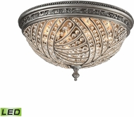ELK 16251-6-LED Renaissance Weathered Zinc LED Flush Ceiling Light Fixture