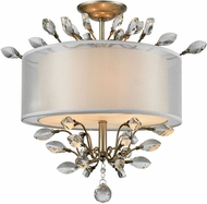 ELK 16281-3 Asbury Aged Silver Flush Mount Ceiling Light Fixture