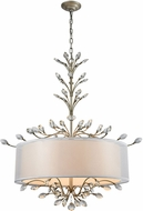 ELK 16283-6 Asbury Aged Silver Drum Drop Ceiling Lighting