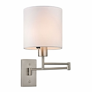ELK 17150-1 Carson Brushed Nickel Bedside Lamp