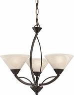 ELK 17645-3 Modern Oil Rubbed Bronze Mini Hanging Chandelier