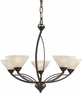 ELK 17647-5 Modern Oil Rubbed Bronze Chandelier Lighting