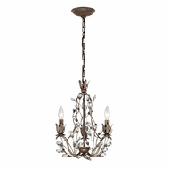 ELK 18142-3 Sagemore Bronze Rust Mini Chandelier Lighting