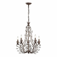ELK 18143-5 Sagemore Bronze Rust Mini Lighting Chandelier