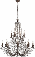 ELK 18147-8-4 Sagemore Bronze Rust Chandelier Lamp