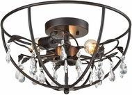 ELK 18221-3 Bridget Oil Rubbed Bronze Flush Mount Lighting