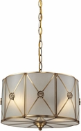ELK 22003-2 Preston Brushed Brass Drum Pendant Hanging Light